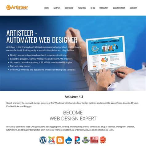 joomla template creator software artisteer web design software and joomla template maker
