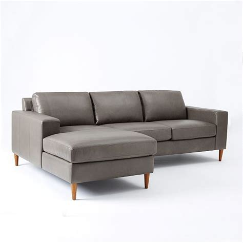 west elm leather sofa york 2 piece leather chaise sectional west elm approx