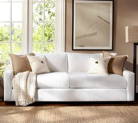 sofa pottery barn york slope arm upholstered sofa pottery barn