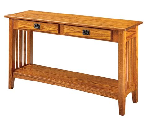 amish mission sofa table keystone collection