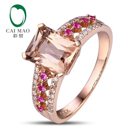 100 Pink Sapphire 1 32 Ct caimao 14kt 585 gold 0 32ct cut and