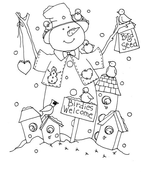 snowman reading coloring page dearie dolls digi sts free digital images and a