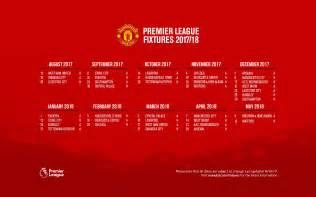 Calendar 2018 Utd Manutd S Fixture For The 2017 18 Season