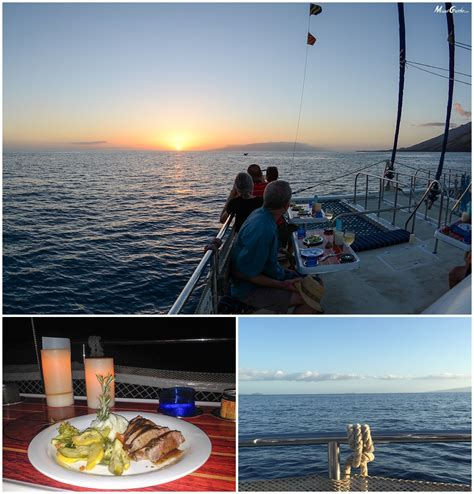 dinner on a boat maui trilogy sunset dinner sail review maui guide