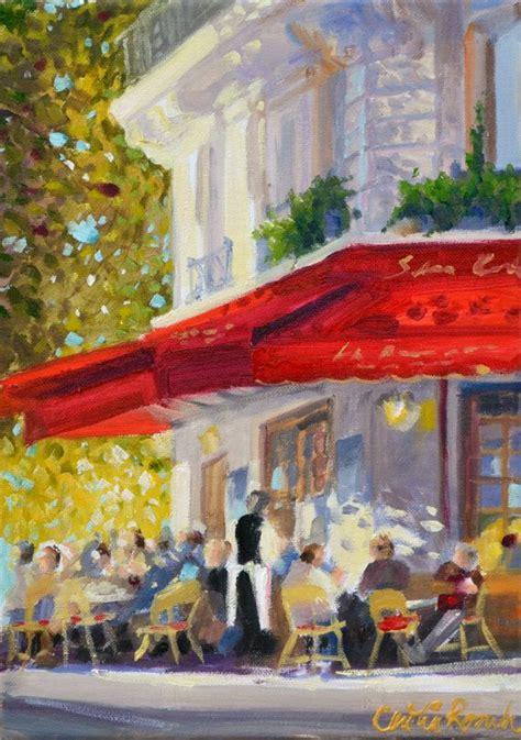 parisian cafe art print  original oil painting french