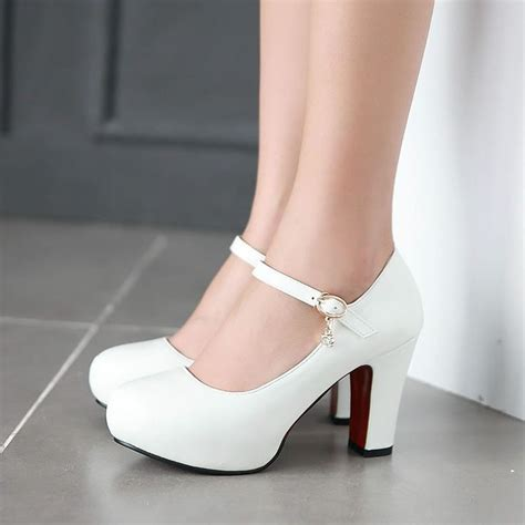 25  best ideas about White wedding heels on Pinterest