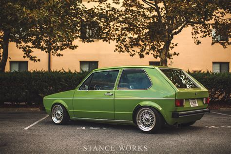 volkswagen rabbit stanced jes and kris clewell s 1980 volkswagen mk1 rabbit