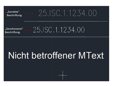Beschriftung Autocad by Fehlerhafte Darstellung Der Beschriftung Autodesk Autocad