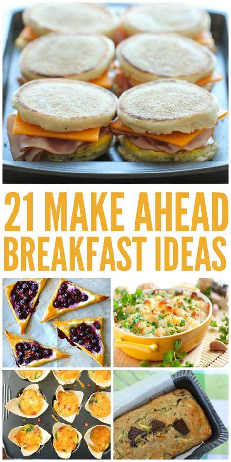 21 make ahead breakfast ideas