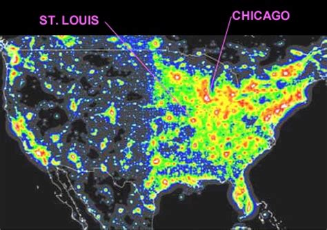 us map of lights at www illinoislighting org the costs of losing our skies