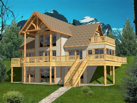hillside cabin plans hill side house plans 171 floor plans