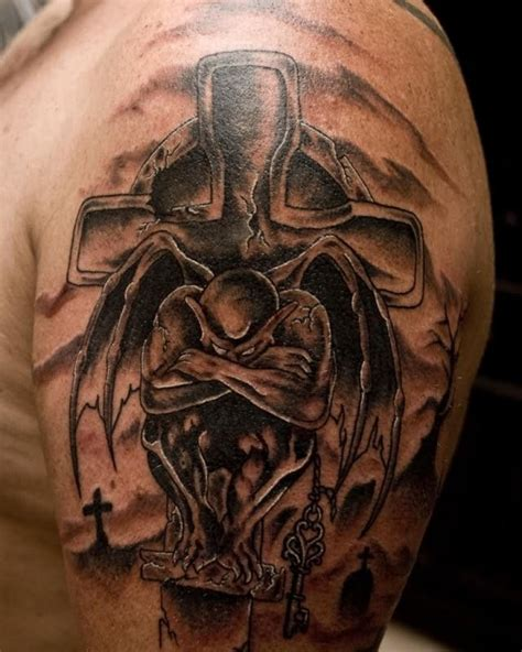 devil and angel tattoo tatts on and