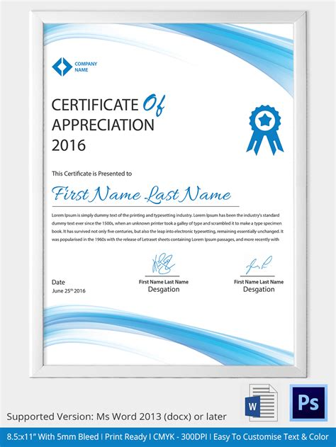design certificate format word certificate template 31 free download sles