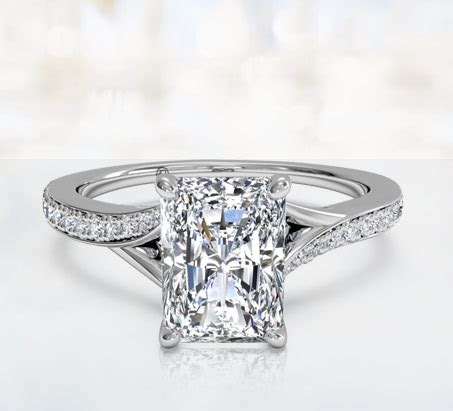 buy radiant cut engagement rings ritani