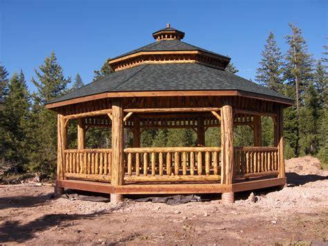Log Gazebo Log Octagon Gazebo Kit Log Gazebos Gazebo Depot