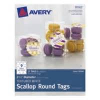 Avery Textured White Scallop Round Tags Avery Scallop Labels Template