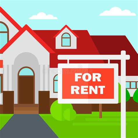 hbr layout house for rent background of house with for rent real estate sign stock