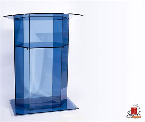 glass podium for church