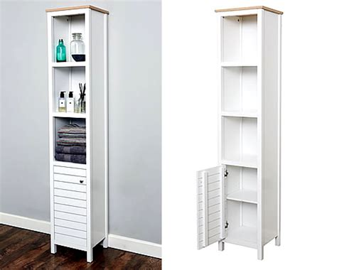 Shelving Units For Bathrooms Store Slimline Bathroom Storage Unit New