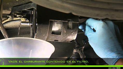 valeo fuel filter montaje de  filtro de combustible en