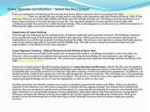 Certified Crane Operator Sle Resume by Crane Operator Certification