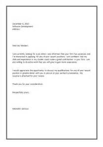 Sample Resume Cover Letter For Applying Job example of job applying letter cover letter templates
