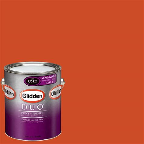 glidden team colors 1 gal nfl 172b nfl denver broncos orange semi gloss interior paint and