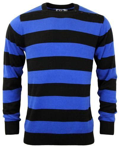 Blouse Jolins Stripe Blue Black madcap s jones neck jumper in black and blue