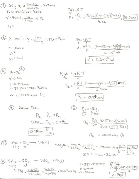 Chemistry Gas Laws Worksheet Answers by Chapter 11 Gas Laws Worksheet Answers Motorcycle Review
