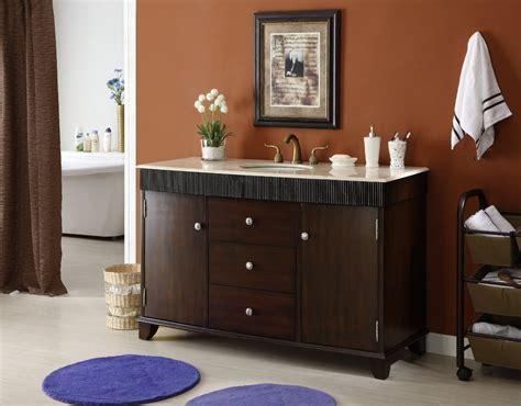 54 inch bathroom vanity cabinet adelina 54 inch contemporary style bathroom vanity cream marble counter top