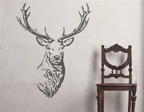 vinal wall stickers stag vinyl wall sticker contemporary wall stickers