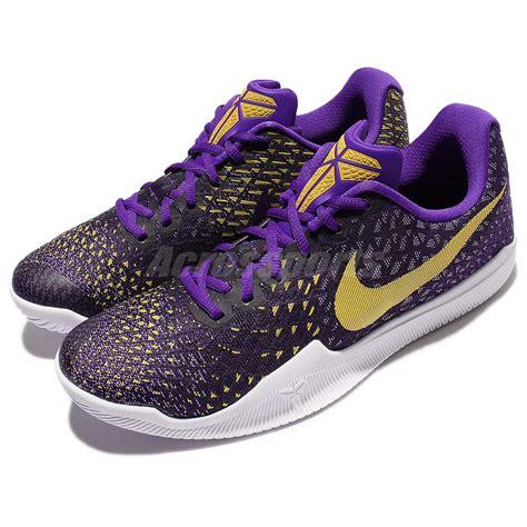 purple and gold basketball shoes nike mamba instinct ep bryant purple gold