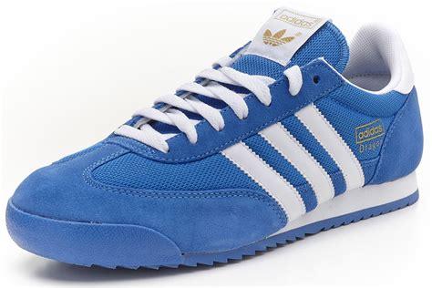 imagenes adidas retro adidas originals dragon retro trainers blue white g50922