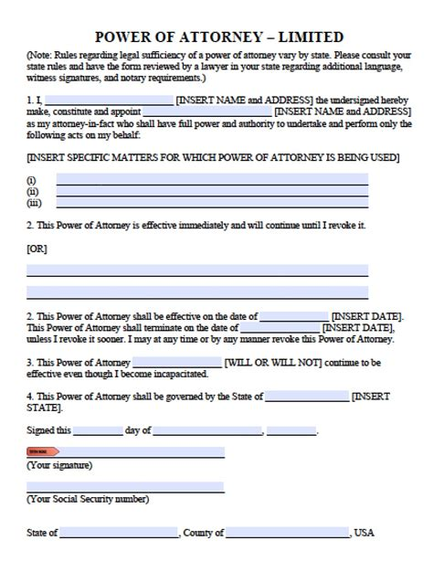 Limited Power Of Attorney Template index of wp content uploads 2013 06