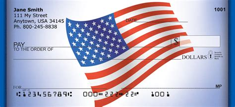 Background Check Flags American Flag Bank Checks