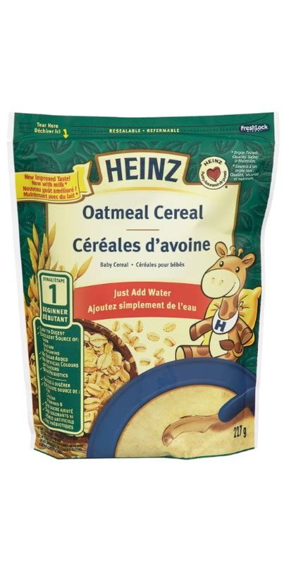 Heinz Oat And Banana Cereal 7 Months buy heinz baby cereal oatmeal add water at well ca free shipping 35 in canada