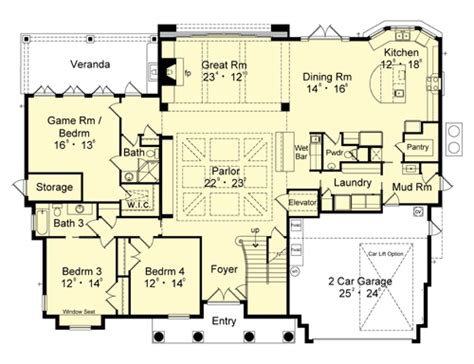 breeze house floor plan bahama breeze 1892 4 bedrooms and 3 baths the house designers