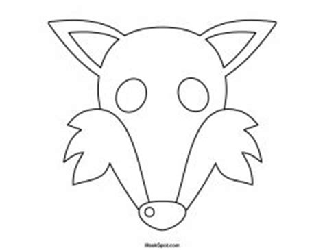 fox mask coloring page printable fox mask to color masks puppets dramatic play