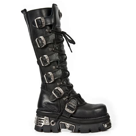 m 272mt s1 new rock reactor sole knee high boots with buckles