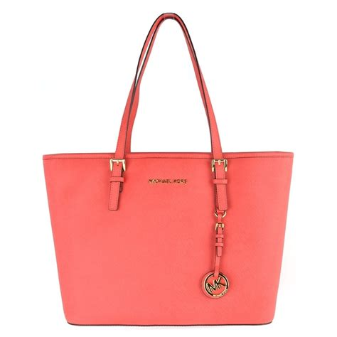 Michael Kors Coral Tote by Michael Michael Kors Jet Set Travel Coral Top Zip Tote