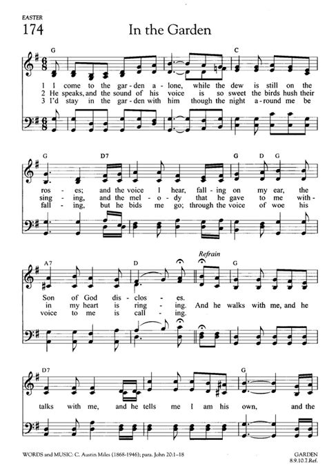 The Gardener Chords by In The Garden Hymnary Org