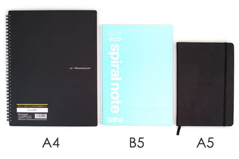 A5 A6 B5 Notebook paper sizes explained jetpens
