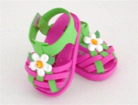 Como Aser Sandalia Para Bebes Con Goma Eva | sandalias con flores en goma eva para fofuchas fofuchas