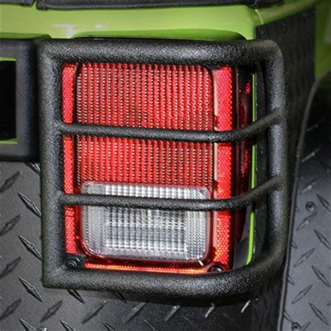 tail l guards jeep wrangler body armor 4x4 wrap around tail light guards in black for