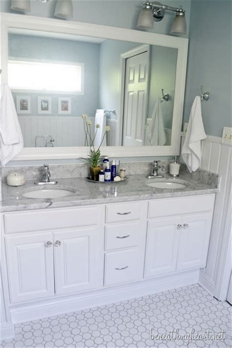 How To Raise A Bathroom Vanity Cabinet by Bathroom Makeover Reveal Beneath