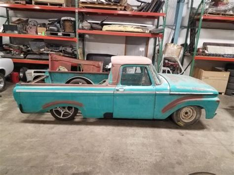 Ford Unibody Truck by 1963 Ford F100 Unibody Bed Truck Custom Chassis Big