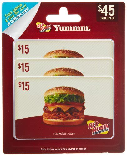 Multipack Gift Cards - red robin gift cards multipack of 3 15