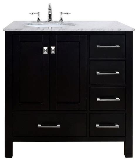 36 quot malibu espresso single sink bathroom vanity without