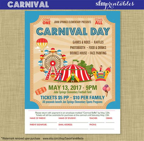 school carnival template postermywall