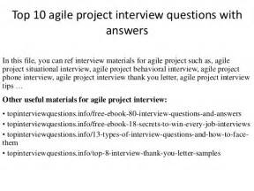 top 10 agile project questions with answers